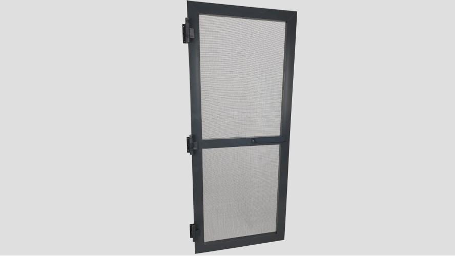 Alumínium nyíló keretes szúnyogháló ajtó (Antracit)