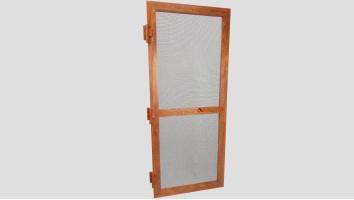 Alumínium nyíló keretes szúnyogháló ajtó (Aranytölgy/Festett)