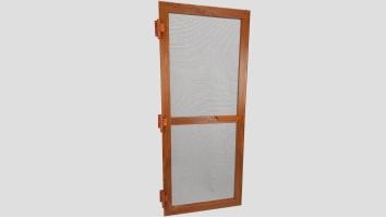 Alumínium nyíló keretes szúnyogháló ajtó (Aranytölgy/Fóliás)