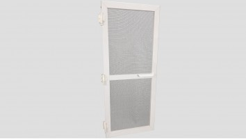 Alumínium nyíló keretes szúnyogháló ajtó (Fehér)