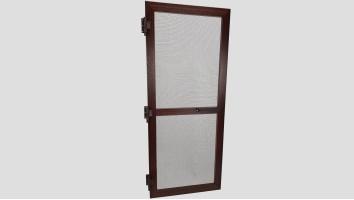 Alumínium nyíló keretes szúnyogháló ajtó (Mahagóni/Fóliás)