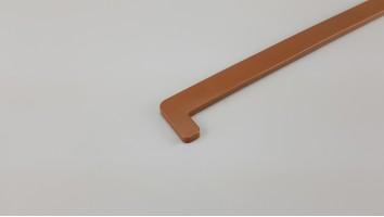 Műanyag párkány végzáró (Aranytölgy)