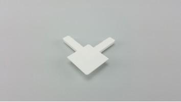 9x32 mm-es alumínium peremes szúnyogháló kerethez sarokelem (Fehér)