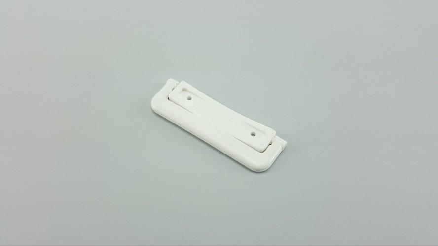 Sima talpú visszazárható kilincs (Fehér)