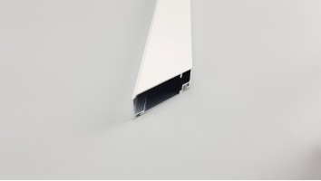 Aluminium szúnyogháló ajtó profil (Fehér)