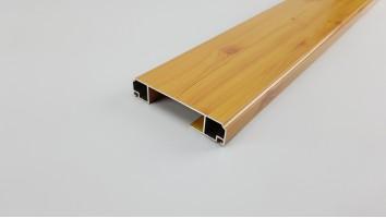 Szúnyogháló ajtó széles osztó profil (Világosfa/festett)