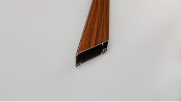 Aluminium szúnyogháló ajtó profil (Sötétfa/festett)