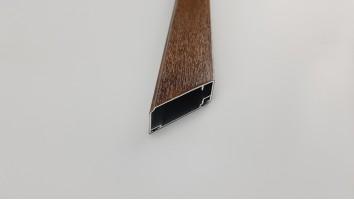 Aluminium szúnyogháló ajtó profil (Dió/fóliás)