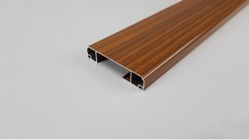 Szúnyogháló ajtó széles osztó profil (Sötétfa/festett)