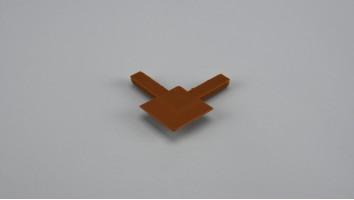 9x32 mm-es alumínium peremes szúnyogháló kerethez külső sarokelem (Aranytölgy)