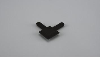9x32 mm-es alumínium peremes szúnyogháló kerethez külső sarokelem (Barna)